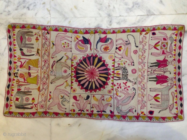 This Kantha piece was made by women's of Bengal' Antique 19th century. Its an art of imagination made by cotton threads from old saree borders. In short no words to describe the art. If  ...