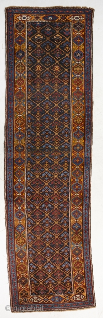 """Nice antique caucasian runner ca 1900's. Size is 390x92 cm/13'x3'1"""". In good shape with some minor wear on the edges.  Please send an email for better high definition photos."""