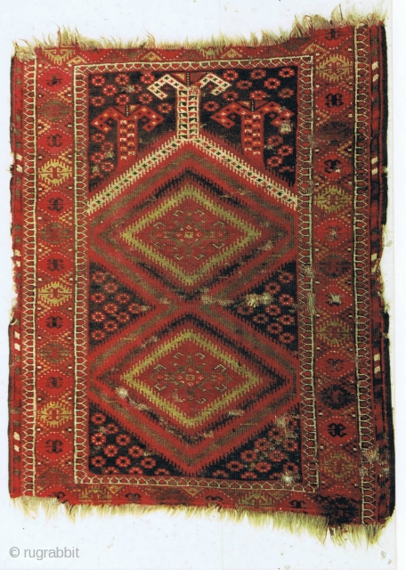 A Baluch prayer rug, late 19th century, 160 x 122cm, all-natural colours, from a rare group of Baluch rugs. For a similar piece and discussion see: Pinner, Robert, and Eiland, Murray L. Between  ...