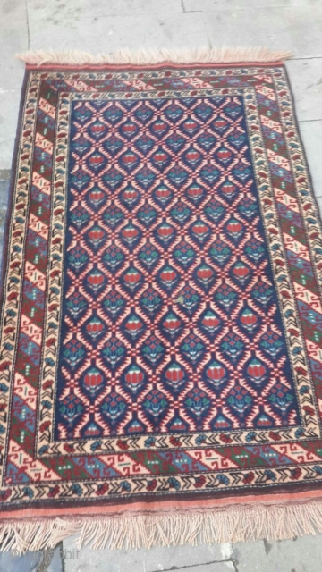 Antique Caucasian Kuba Shirvan Rug, Chi-Chi, aprox. 50 years old. Size 105x168 Wool on wool, good condition.