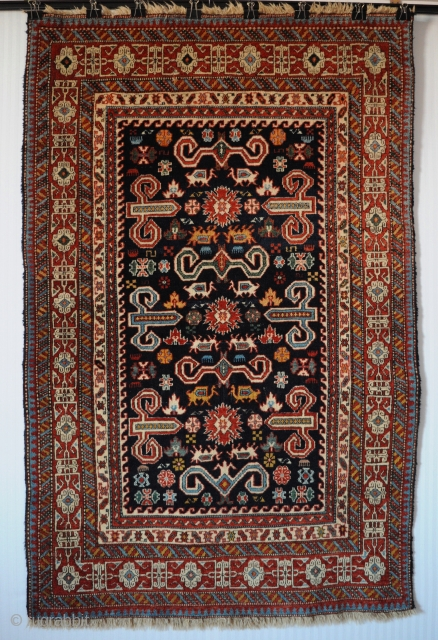 """Old Caucasian Kuba Shirvan Pirebedil rug, very good original condition, size 3'7""""x5'6""""(108x166cm). More pics and price on request."""