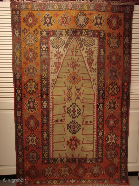 Beautiful Prayer Rug from Sivas. Late 19th-early 20th. Great condition.
