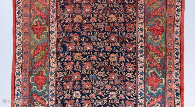 """Stunning overall design Bijar carpet. A big one! 19' x 11'2"""". Excellent color . An older one of it's type.   See more large decorative carpets here: https://www.bbolour.com/all-decorative-carpets/"""