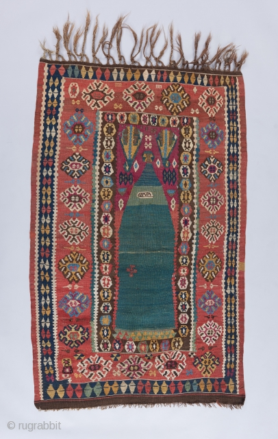 Kilim with a date.