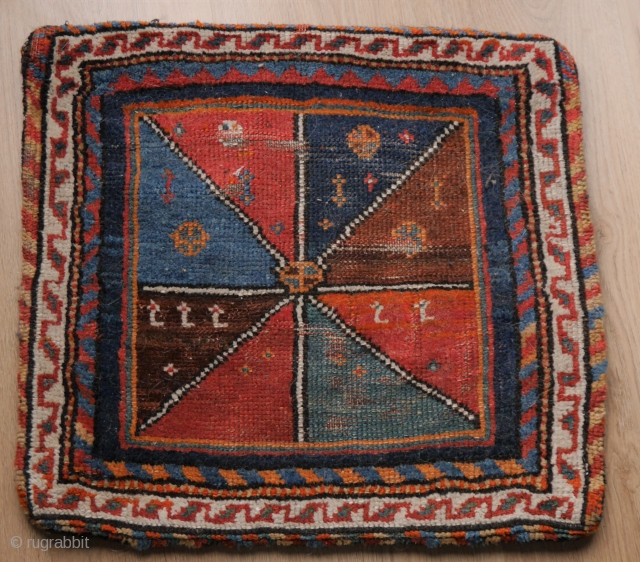 Unusual bag, Qashqai and gabbeh like with a striking pattern. 