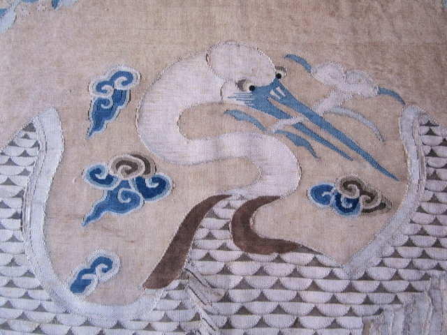 Near pair of superb 17th/18th century Chinese K'ossu panels. Both pieces are framed the same way. The pieces themselves are very, very similar, but if you look at them carefully there are  ...