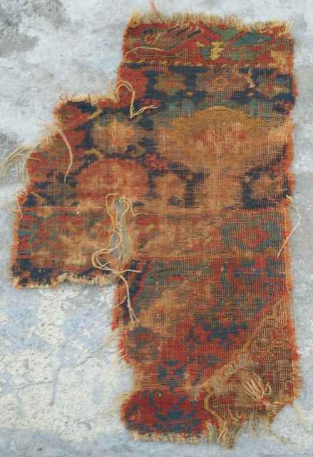 classiacal Turkish Ushak carpet fragment, 17th century