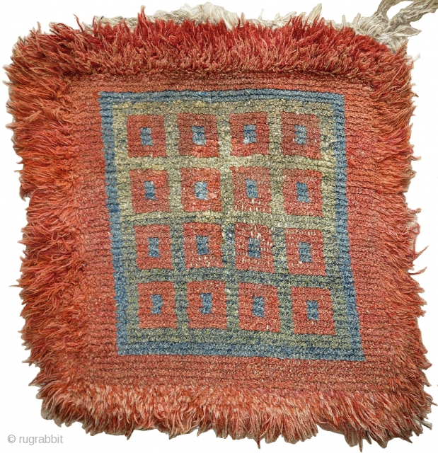 Tibetan Wangden type warp-faced back seating square. (apx. 3 feet square) a nice older example with excellent abrash!