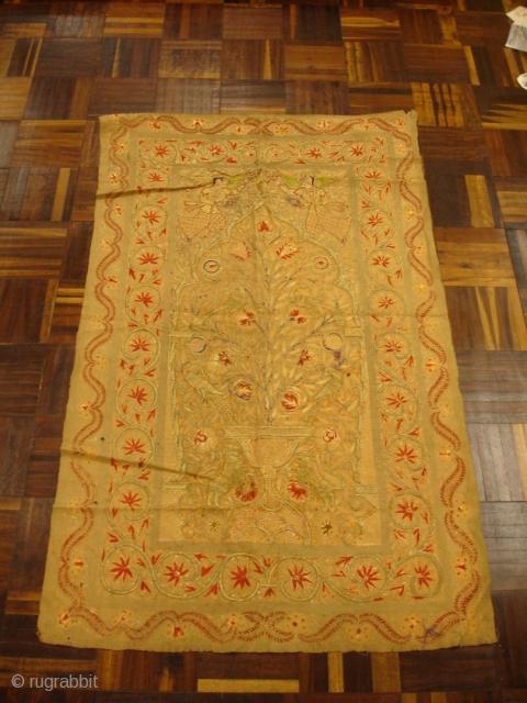 "19th Century Textile - 29"" x 48"""