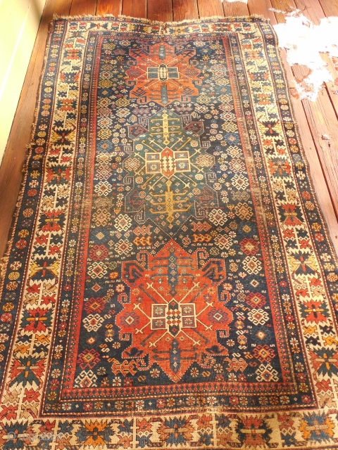 LARGE 48 X 82 INCH KUBA WITH SOME WEAR
