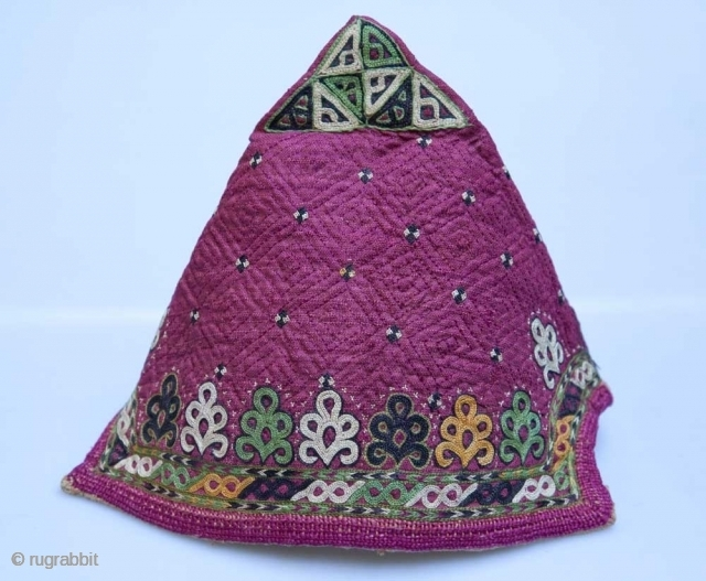 CHODOR TURKMEN Baby Hat. Late 19th c. near-mint condition.