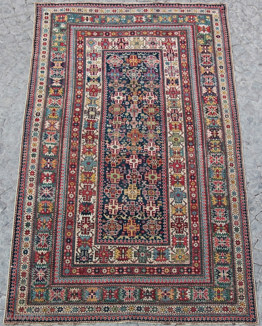 One of the best possible example of Chi-Chi from Late 19th C. (1880) It has a nice condition with medium pile...  252x140 cm 8'3 x 4'7 ft.