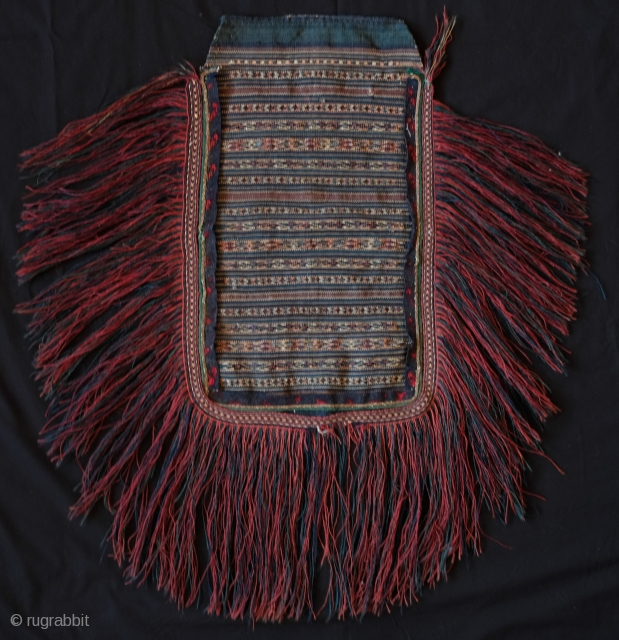 Dalmatian Apron, Late 19th Century early 20th Century.  Extremely fine weave.  All natural colors.  Excellent long tassels fully in tact. Felt edging around the border edge.  A fine  ...