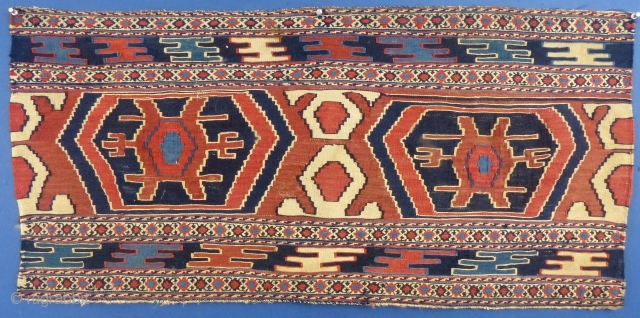 """Mafresh Panel, Moghan, Shahsavan Soumak, Early 20th Century, Excellent condition, 18 1/2"""" X 40"""" Please feel free to ask any and all questions... Price does not include shipping...SOLD."""