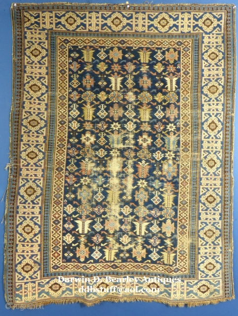 Antique Caucasian Kuba(?), c.1875-1900, Shows wear. Price, more photos and details on request...SOLD.