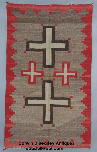 "Navajo Weaving, Wool, c. 1890-1010, 73"" X 42"",