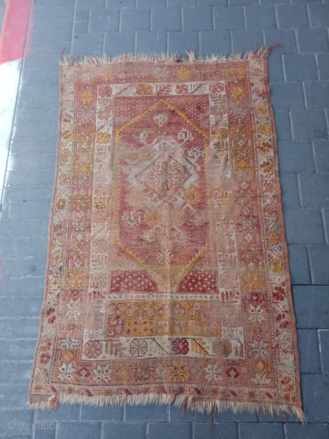 Turki antique rug, synthetic dyes size:140x93-cm please ask