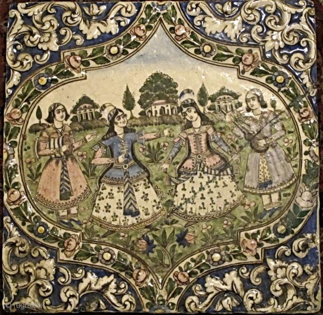 Antique 19th Century Persian tile   Size:42x42 cm   P.O.R  Thanks