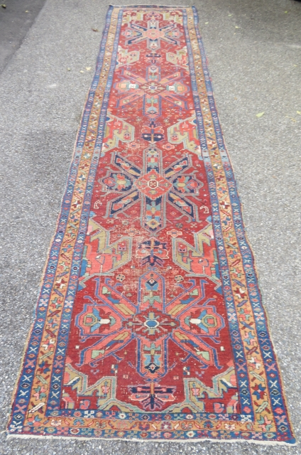 Antique Heriz Karadjeh runner