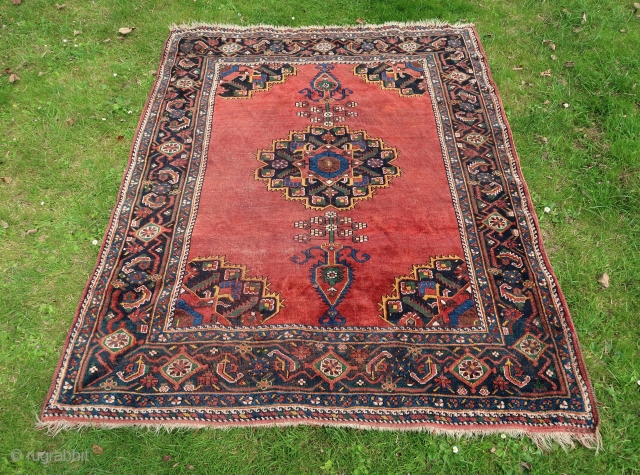 """""""Afshar """"( Saarabad )  Old and decorative, ( ca.1940.) wool on wool, all sides original . Great colours. See also Cecil Edwards.   Price including worldwide transport. Ca; 190 x 145 cm.  ..."""