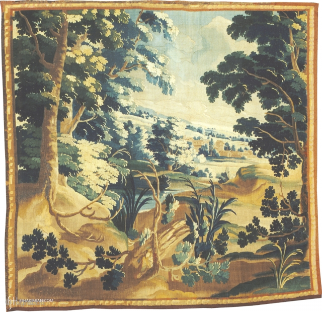 Antique Flemish Verdure Tapestry