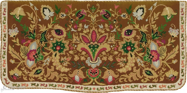 """Antique French Needlepoint Rug France ca.1880 4'0"""" x 2'0"""" (122 x 61 cm) FJ Hakimian Reference #02151"""