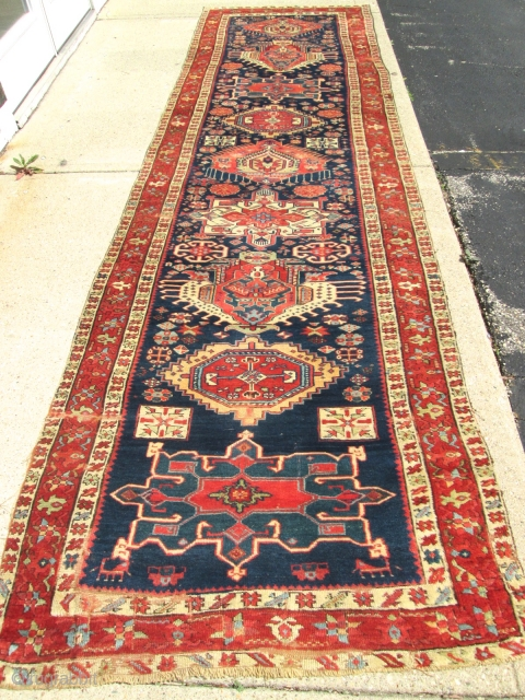 Awesome Antique Persian Serapi (karaja) Rug.