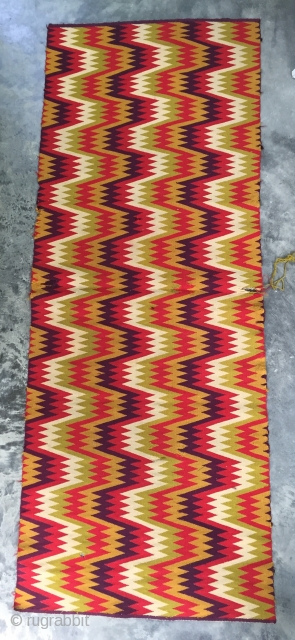 Swedish table runner, early 20th century, fine commercial yarn, flax warps, has a few small reweaves and small unravelling right edge midway along.  Will ship anywhere at actual cost.