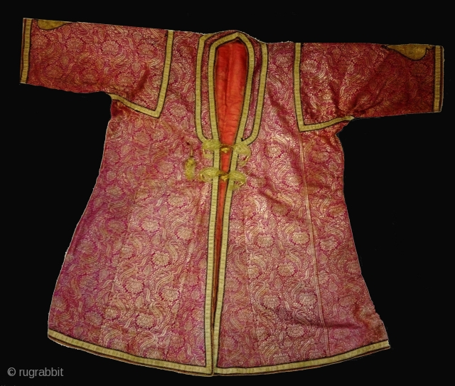 Choga (Man'Costume)Zari Brocade From Royal Family From patiala Punjab India Known As khinkhab.Very rare Piece in perfect Condition.