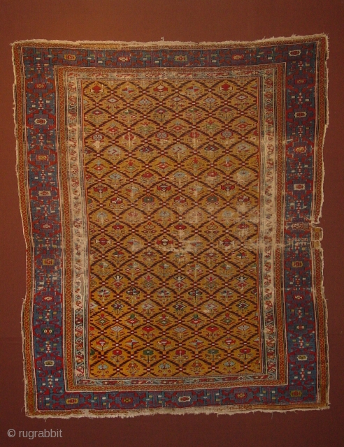finest chi-chi ca. 1850 , clean, no stains, though wear... 126x153cm 4.2x5.1ft
