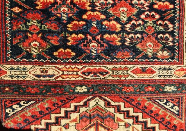 Persian Kurdish bagface,circa 1880 wool on wool,original borders•••size 86x70cm