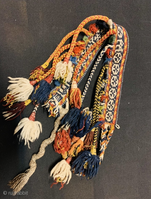 QASHQAI horse neck-band 1880 circa in very good condition,all good colorsss and the white color all in cotton•••size80x5cm