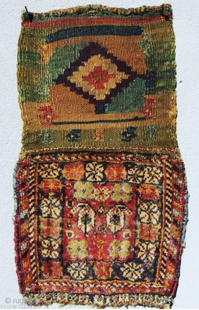 Qashqai Chanteh circa 1880 size 25x44cm with Kilim