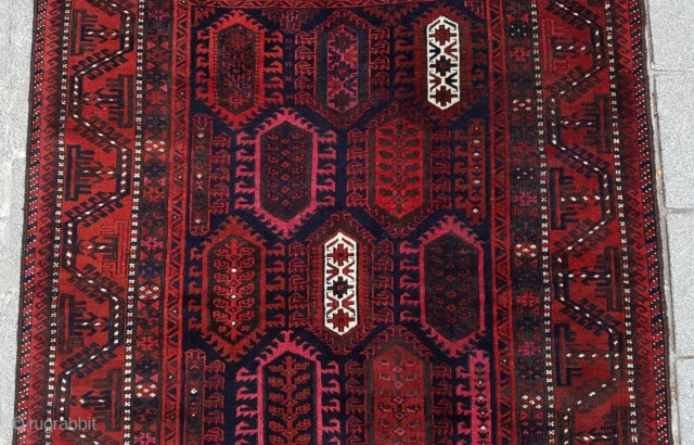 Late 19th Century Small Baluch Rug size 140x172 cm