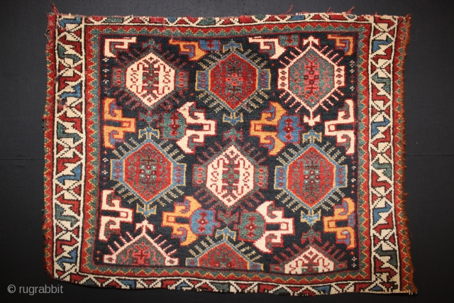 ca.1890 wonderful Khamsah bagface,,all natural colours,,size:57x70 cm 1.10x2.4 ft