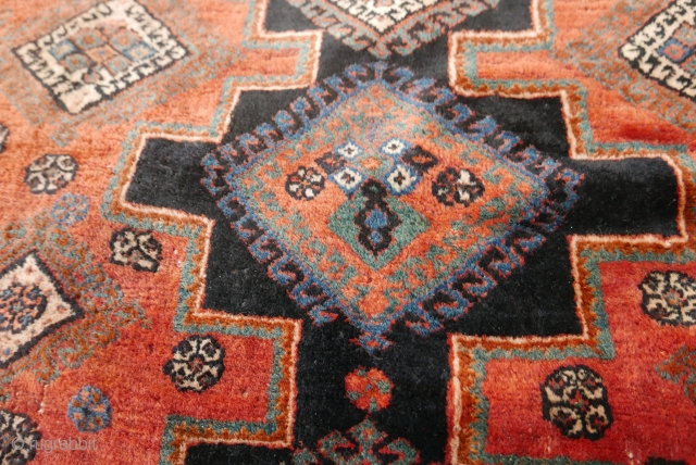 Very fine tribal/village Afshar rug,  circa 1900;  SE Persia;  incredibly supple handle(could be used as a blanket);  warm,  natural  colors;  very good condition;  selvages  ...