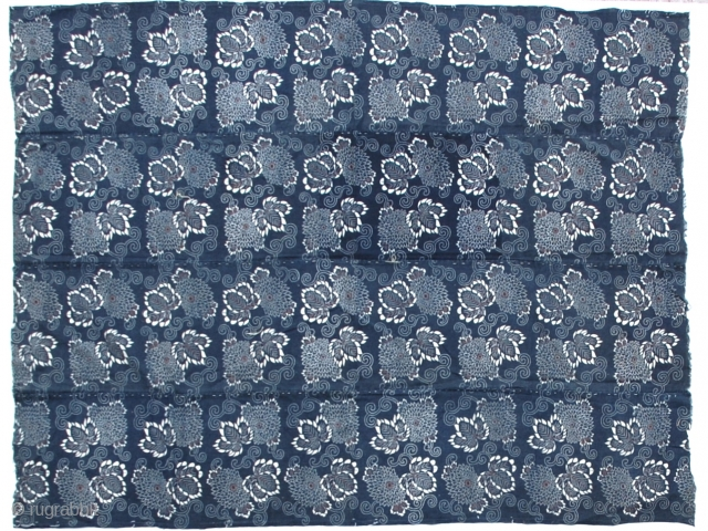 Japanese Katazome Indigo Futon Cover 