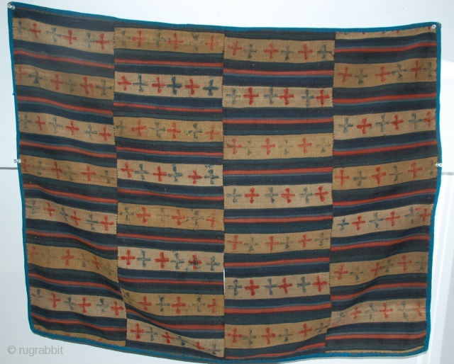 "Bhutan Saddle Blanket, yak wool 19c-early 20c 30"" x 36"""