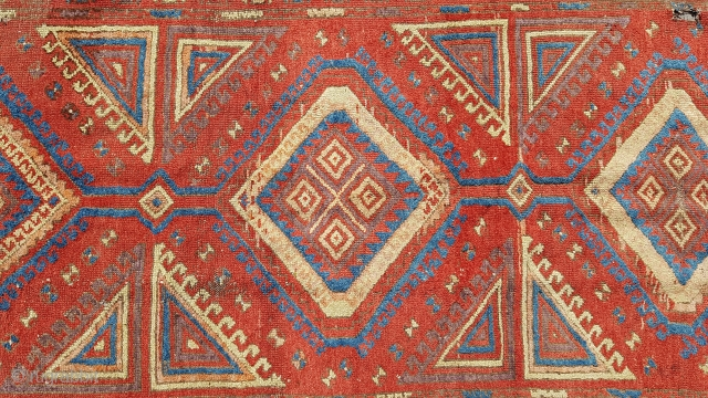 Size : 110 x 237 (cm),  Middle anatolia (konya/karapinar), Over 170 years old ,  Natural dyes !