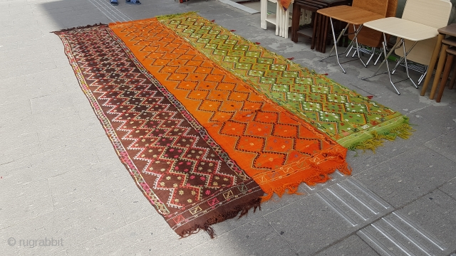 Size : 190x385 (cm), I bought this carpet from Nigde. I bought 7 carpets from the same house, they can all belong to different places, they can all belong to the same place.  ...