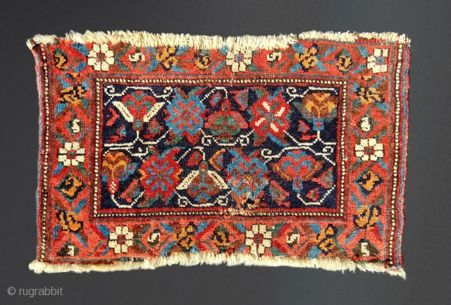 Antique Afshar mafrash fragment. 46cm x 30cm Condition as shown. Wonderful, saturated colors.