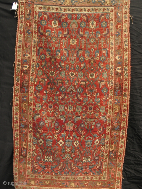 Anacrhonistic Bidjar with subtle palette and wool