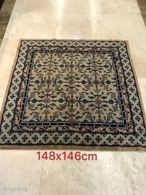 Inner Mongolia square carpet, size 148x146cm, about 40 years, welcome to consult the price