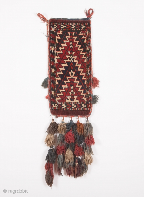 Turkmen Yamud spindle bag late 19th century and bake of kilim  size:50 x 23 cm