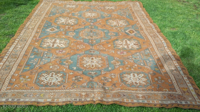"""Antique soumac carpet lovely condition 112""""x81"""" (9'4""""x6'9"""") fresh to market from english country house collection"""