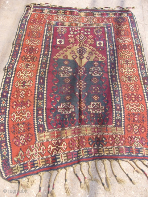 "Nice Anatolian Prayer Kilim,excellent condition,all good colours,fine weave,Size 5'*3'10"".E.mail for more info."