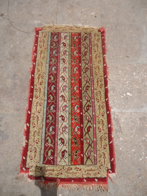 """Yastik with beautiful stripe design and good colors,as found without any repair or work done.Size 3*1'6"""".E.mail for more info and pics."""