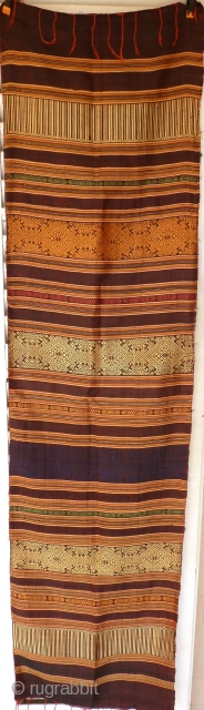 Antique Indonesian silk textile, vegetable color,  156 x 40 Price 130€ shipping included