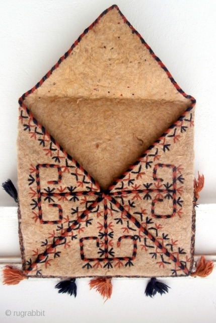 YAMOUT TURKOMAN BOKSCHE. Of the five major Turkoman tribes it appears that only the Yamout weave this special shape of bag, and even then most of them are with knotted pile as  ...