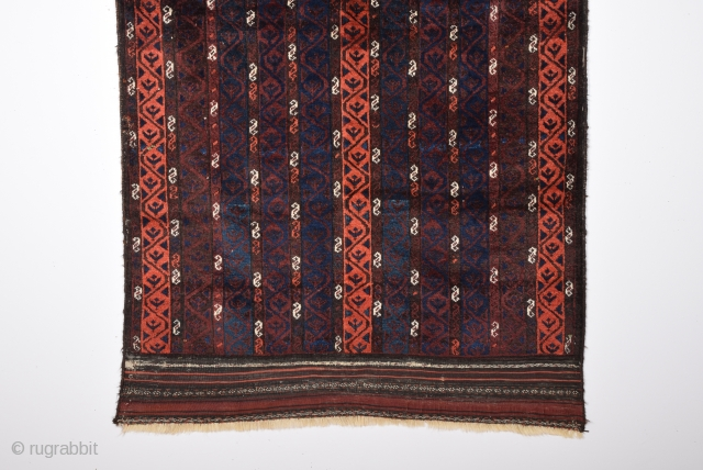 Unusual Belüch Rug Circa 1880s.It's In Perfect Condition And As Found It.Complately Original And Untocuhed One.Size 110x112 Cm
